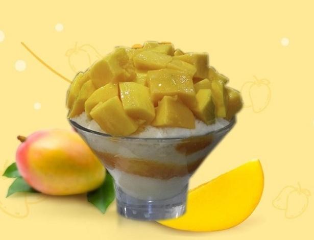 O snow ice-cream (sorvete de neve) foi criado pelo empresário Ronaldo Kim, 27, da sorveteria Snow Fall