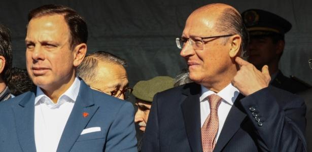 Doria (à esq.) e Alckmin são os principais nomes do PSDB para 2018
