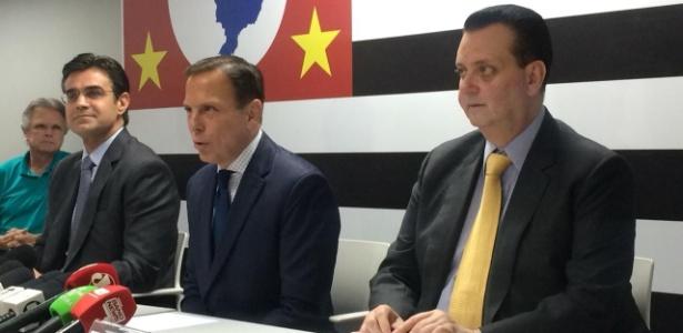 05.nov.2018 - O governador eleito de São Paulo, João Doria, anuncia o ministro Gilberto Kassab como secretário - Janaina Garcia/UOL