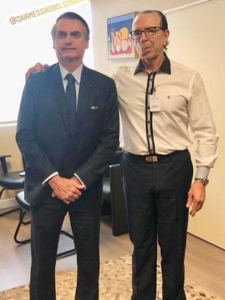 Imagem publicada pelo médico com Jair Bolsonaro após consulta  - Reprodução