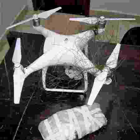 Drone apreendido com celulares sobrevoava penitenciária em MT - Divulgação/Sispen-MT