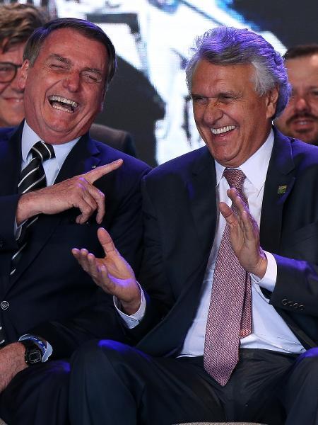 31.jul.2019 - O presidente Jair Bolsonaro ao lado do governador de Goiás Ronaldo Caiado (DEM) - Pedro Ladeira/Folhapres
