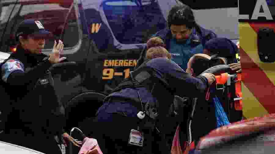 Tiroteio em um mercado kosher de Jersey City, nos EUA, deixou mortos e feridos - Kena Betancur / AFP