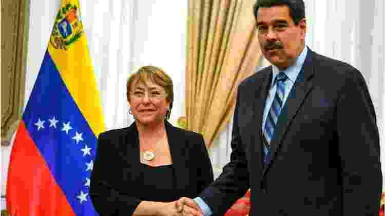Maduro rejeitou o relatório de Bachelet e exigiu sua retificação - Getty Images/BBC