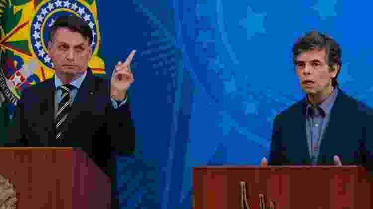 Presidente Jair Bolsonaro apresenta Nelson Teich como novo ministro da Saúde - Marcello Casal Jr./Agência Brasil - Marcello Casal Jr./Agência Brasil