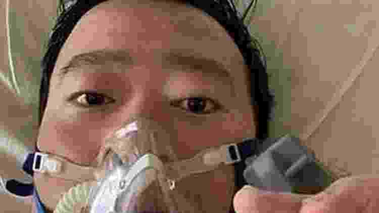 Li Wenliang durante tratamento contra covid-19 - Dr Li Wenliang - Dr Li Wenliang