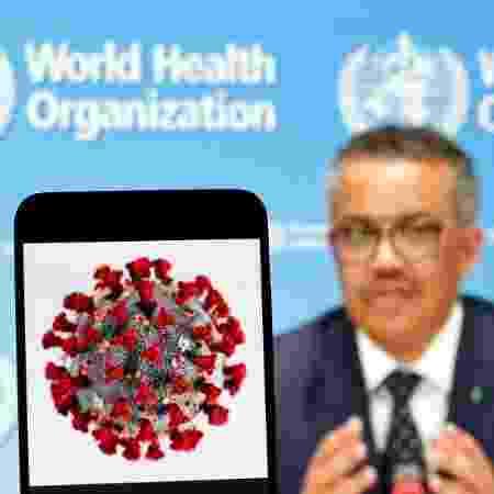 Tedros Adhanom Ghebreyesus, diretor-geral da OMS (Organização Mundial da Saúde), em coletiva de imprensa - Pavlo Gonchar/SOPA Images/LightRocket via Getty Images