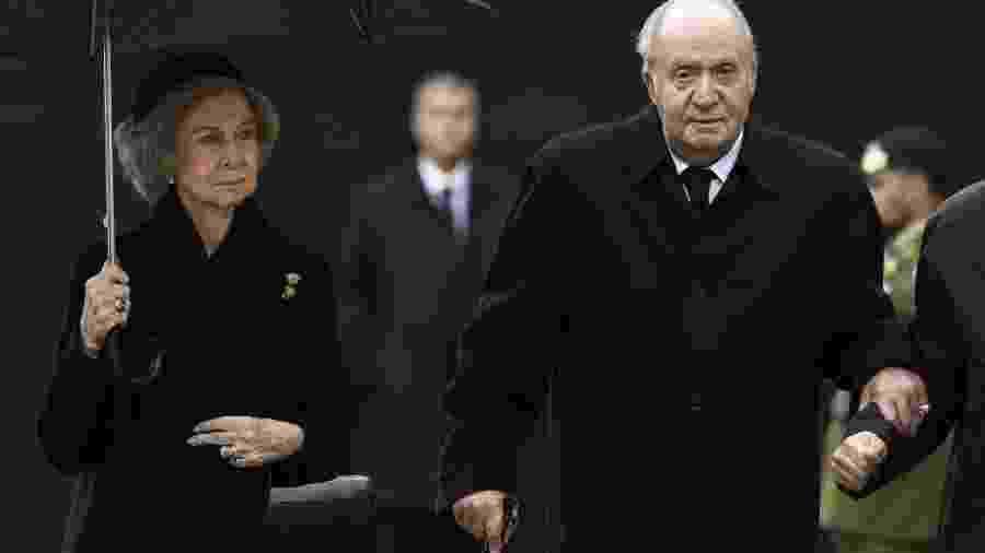 Rainha Sofia e o rei emérito da Espanha, Juan Carlos I - JOHN THYS / Belga / AFP