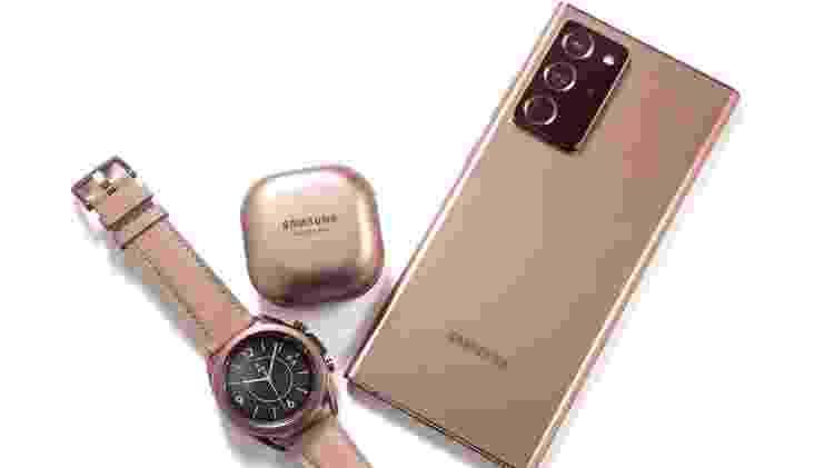 Samsung lançou Note 20, relógio Galaxy Watch 3 e fone Buds Live - Divulgação - Divulgação