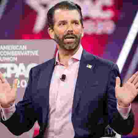 28.fev.2020 - Donald Trump Jr., filho do presidente dos EUA, Donald Trump - Samuel Corum/Getty Images