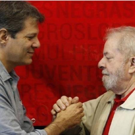 Fernando Haddad e Lula - Edilson Dantas / Agência O Globo