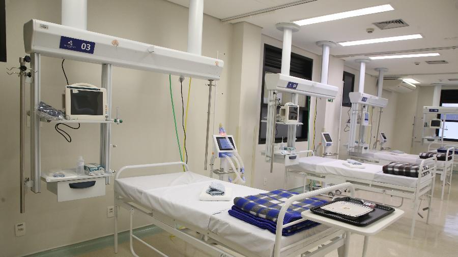 Quando anunciou a unidade, o governo previa 180 leitos; agora, hospital está sendo inaugurado com 30 vagas - Governo de SP