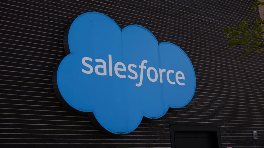 Logo da Salesforce - Jeremy Moeller / Getty Images
