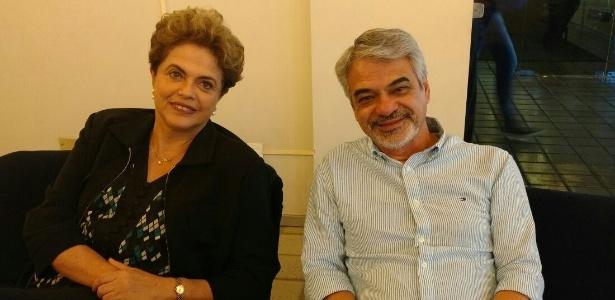 A presidente afastada, Dilma Rousseff, visita o Recife com o senador Humberto Costa (PT-PE)
