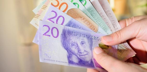 Dinheiro vivo na Suécia está cada vez mais raro - Getty Images