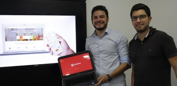Marlon Pascoal (à esq.) e João Paulo Albuquerque, sócios da start-up Cabemcasa