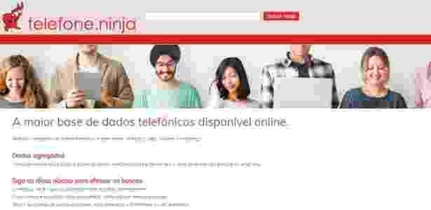 Telefone.Ninja segue mostrando número de celulares - Reprodução