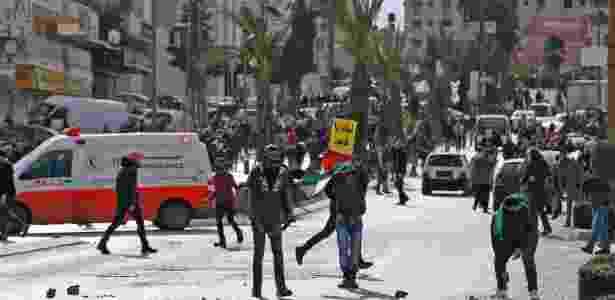 Palestinos entram em confronto com forças israelenses na Cisjordânia - Abbas Momani/ AFP - Abbas Momani/ AFP