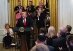 Apesar de pedir união, Trump segue atacando mídia e democratas (Foto: Doug Mills/The New York Times)
