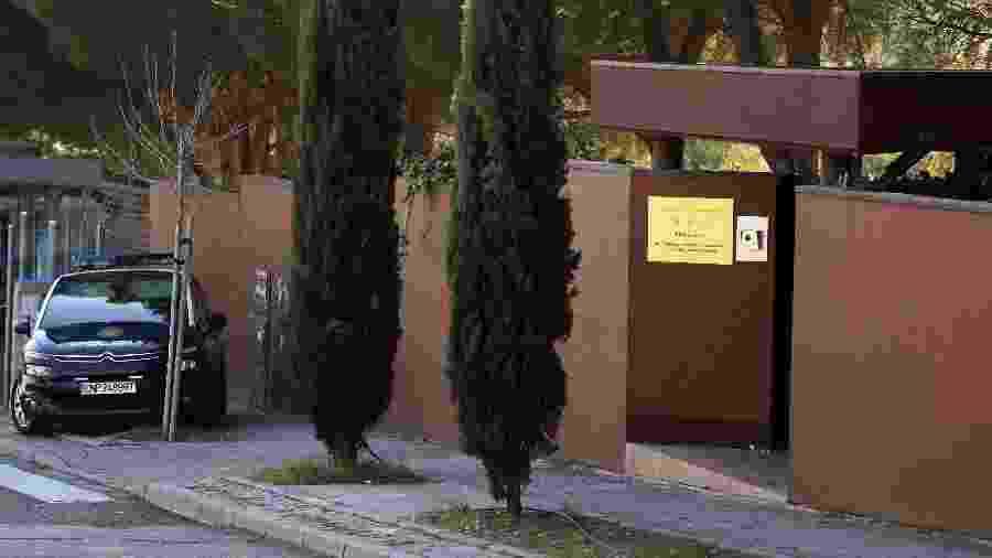 28.fev.2019 - Embaixada da Coreia do Norte em Madri, na Espanha - Sergio Perez/Reuters