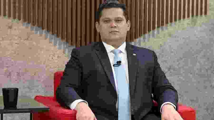 05.jun.2019 - Presidente do Senado, Davi Alcolumbre (DEM-AP), em entrevista ao programa Central GloboNews - Reprodução/GloboNews