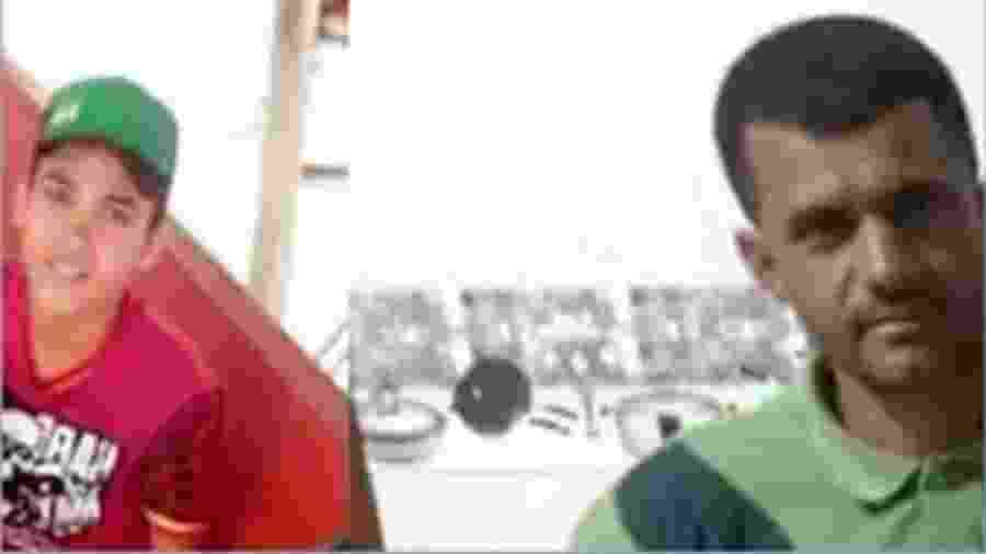 Ygor Vieira de Almeida e o pai dele, Carlos Barros de Almeida - Reprodução TV Sudoeste