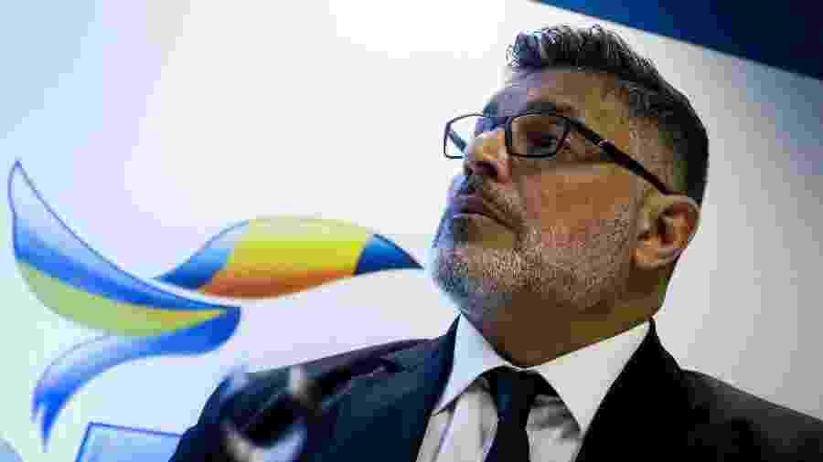 O deputado federal Alexandre Frota durante sua filiação ao PSDB - Aloisio Mauricio/Fotoarena/Estadão Conteúdo
