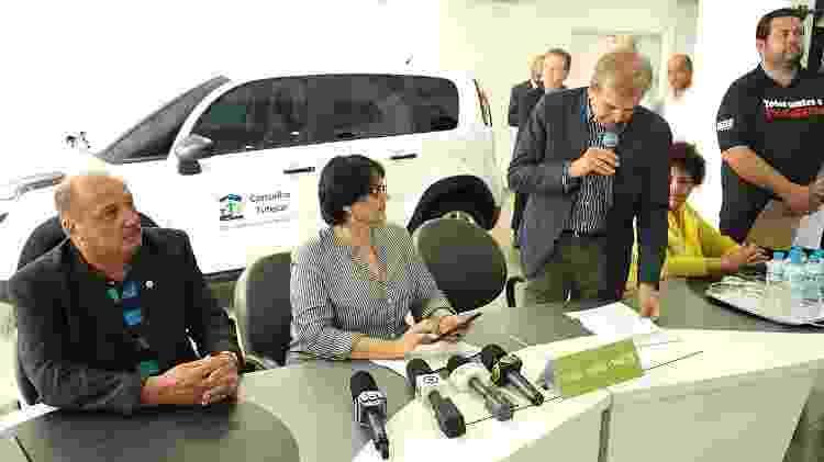 25.jul.2019 - Ministra Damares entrega carro novo a conselho tutelar em São Paulo - Wellington Macedo/SNDCA/MMFDH