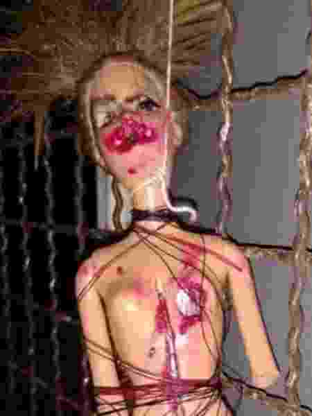 Homem usou boneca para ameaçar a ex - Divulgação/Comarca de Tubarão