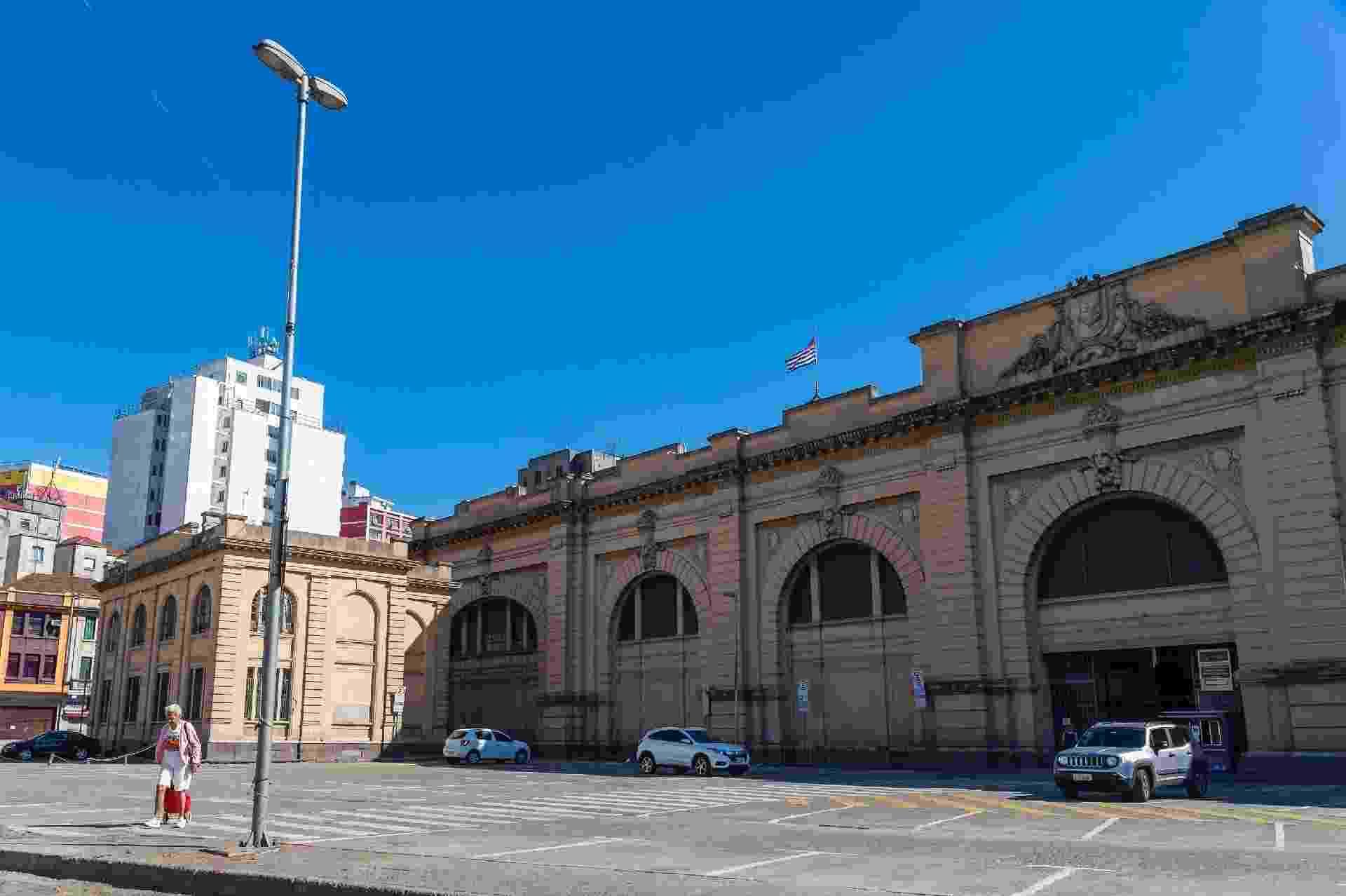 23.mar.2020 - Mercado Municipal de São Paulo, um dos pontos turísticos da cidade, vazio durante a manhã de hoje - Anderson Lira/Frame Photo/Estadão Conteúdo