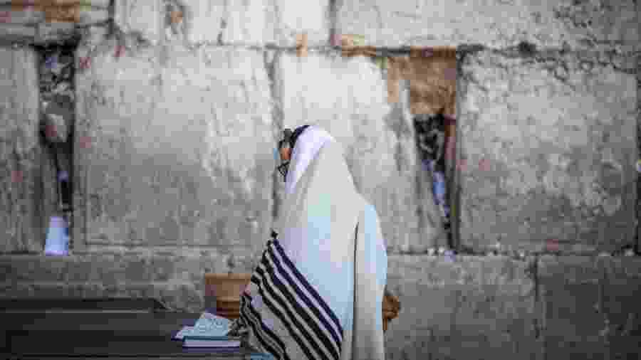 Muro das Lamentações em Jerusalém durante quarentena de coronavírus - Ilia Yefimovich/picture alliance via Getty Images