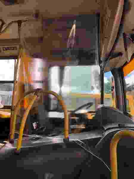 Ônibus de Salvador com barreira de proteção contra o novo coronavírus - Semob / Divulgação