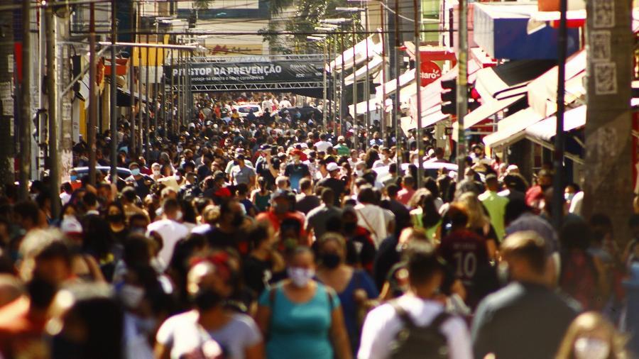 Movimentação no centro de Campinas (SP), em agosto, durante a pandemia do novo coronavírus - KAREN FONTES/CÓDIGO19/ESTADÃO CONTEÚDO