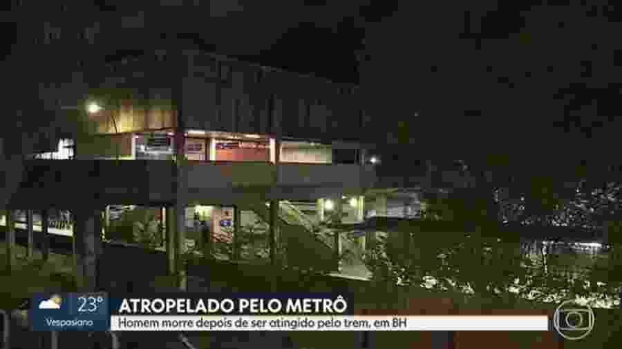 O segurança de 52 anos tentava se proteger da chuva junto com um colega de trabalho - Reprodução/TV Globo