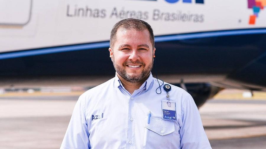 Raphael Cavaleiro diz que se emocionou com situação; mais tarde, recebeu parabéns do CEO da Azul - Acervo pessoal