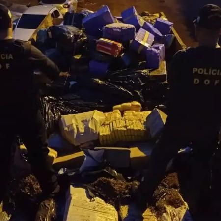 Polícia apreende 11,6 toneladas de maconha em Itaquiraí (MS) - Divulgação/DOF