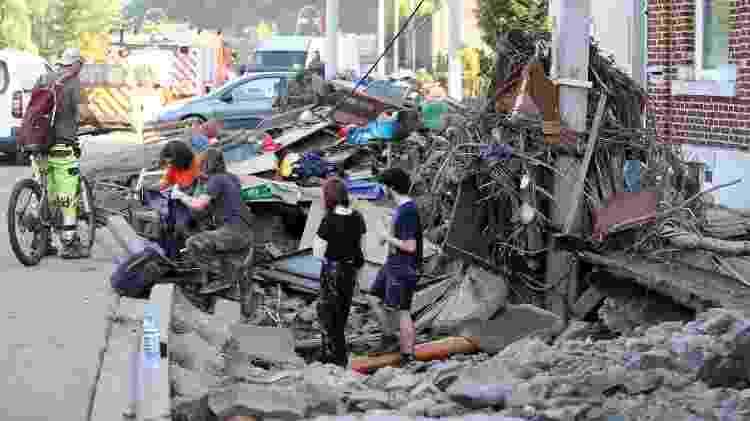 Enchente na Bélgica - François Walschaerts/AFP - François Walschaerts/AFP