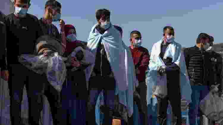 Muitos migrantes cruzam o Canal da Mancha em barcos cada vez mais precários - Dan Kitwood/Getty Images - Dan Kitwood/Getty Images