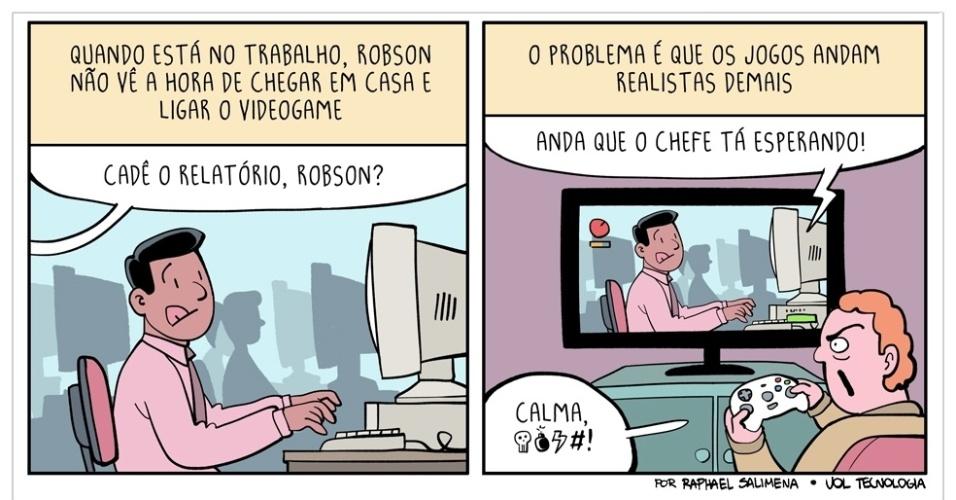 """13.fev.2016 - """"Trabalho e games"""""""