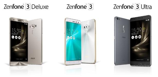 30.mai.2016 - Zenfone 3 Deluxe, Zenfone 3 e Zenfone 3 Ultra, da Asus