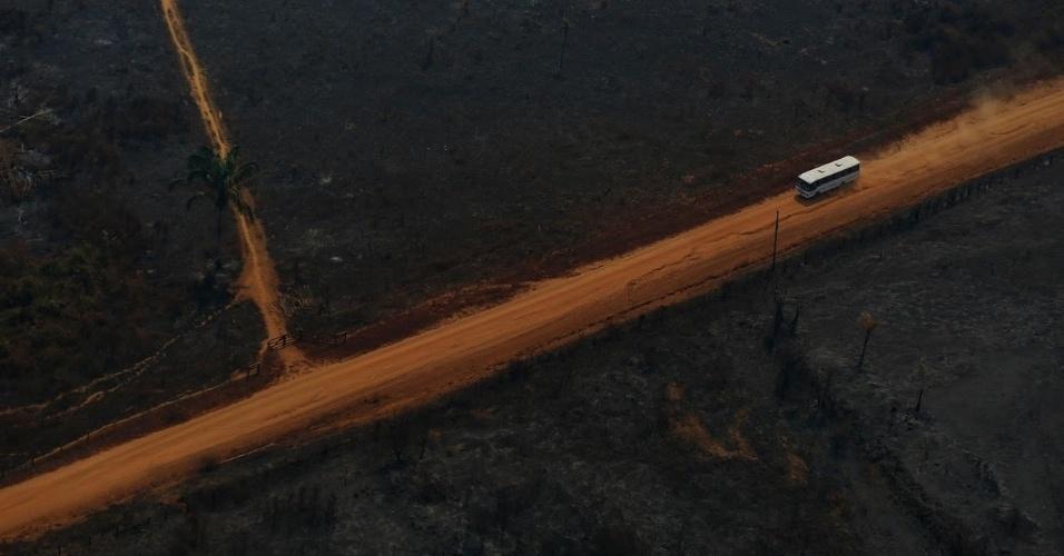 Construção da rodovia Transamazônica impulsionou desmatamento na região sul do Amazonas, perto da divisa com Rondônia