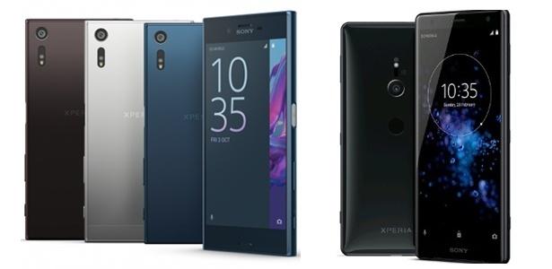 O Sony XZ 1 e o Sony XZ 2, lado a lado: as bordas curvas chegaram