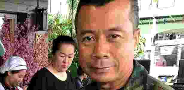 O contra-almirante Arphakorn liderou a unidade de forças especiais da Marinha tailandesa - BBC - BBC