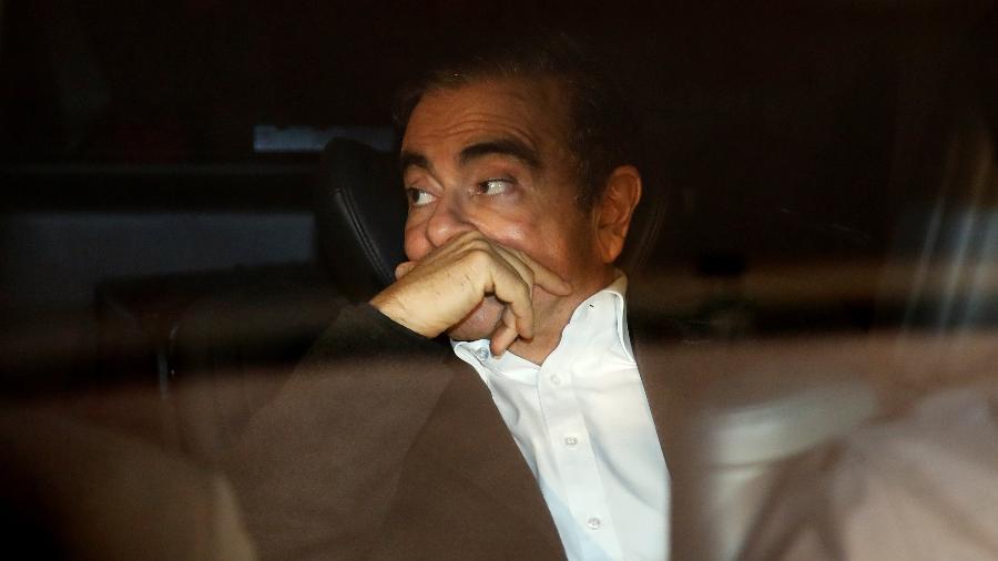 6.mar.2019 - Carlos Ghosn deixa prisão em Tóquio - Issei Kato/Reuters