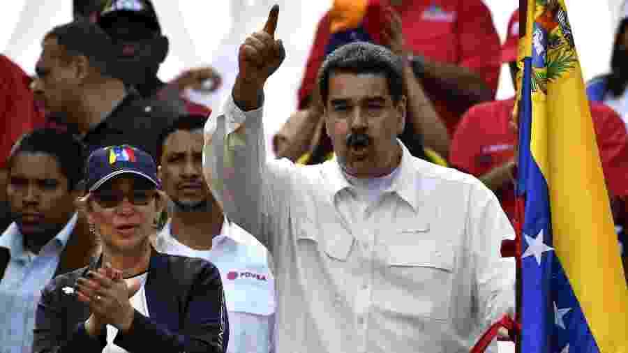 Mesmo sem reconhecer o governo de Nicolás Maduro na Venezuela, o Brasil mantém negociações comerciais com o chavismo - Yuri Cortez - 9.mar.2019/AFP