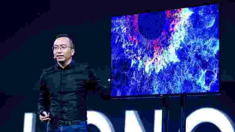 Zhao Ming, presidente da Honor, apresenta a Honor Vision - Divulgação