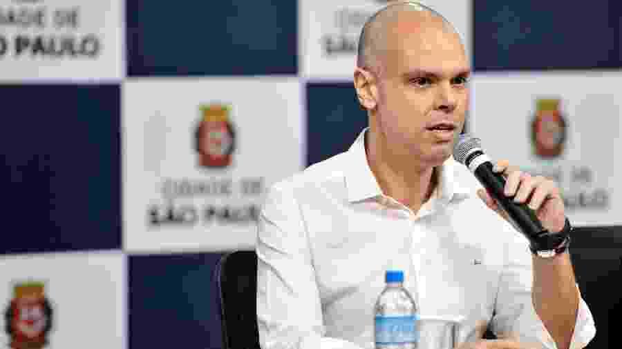 29.11.2019 - Bruno Covas em coletiva de imprensa  - João Alvarez/Fotoarena/Folhapress