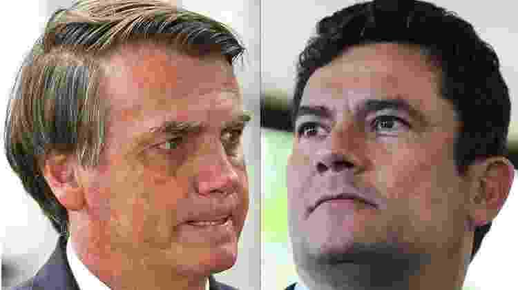 Após demissão de Moro (dir.), Bolsonaro chegou a chamar seu ex-ministro de 'Judas' - AFP via BBC