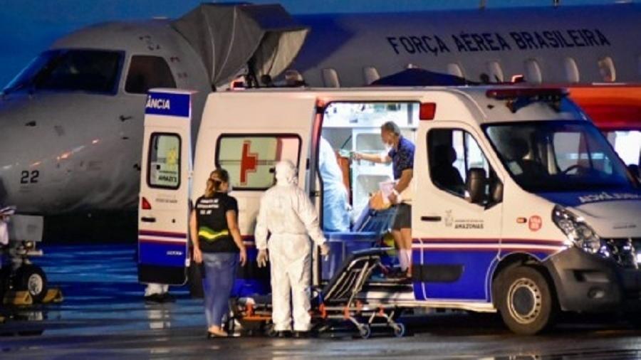 Pacientes com covid-19 do AM são transferidos para serem tratados em outros estados - Divulgação/SES-AM