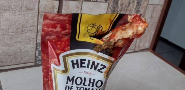 Empresa vai analisar   SP: Mulher diz ter encontrado frango em molho de tomate